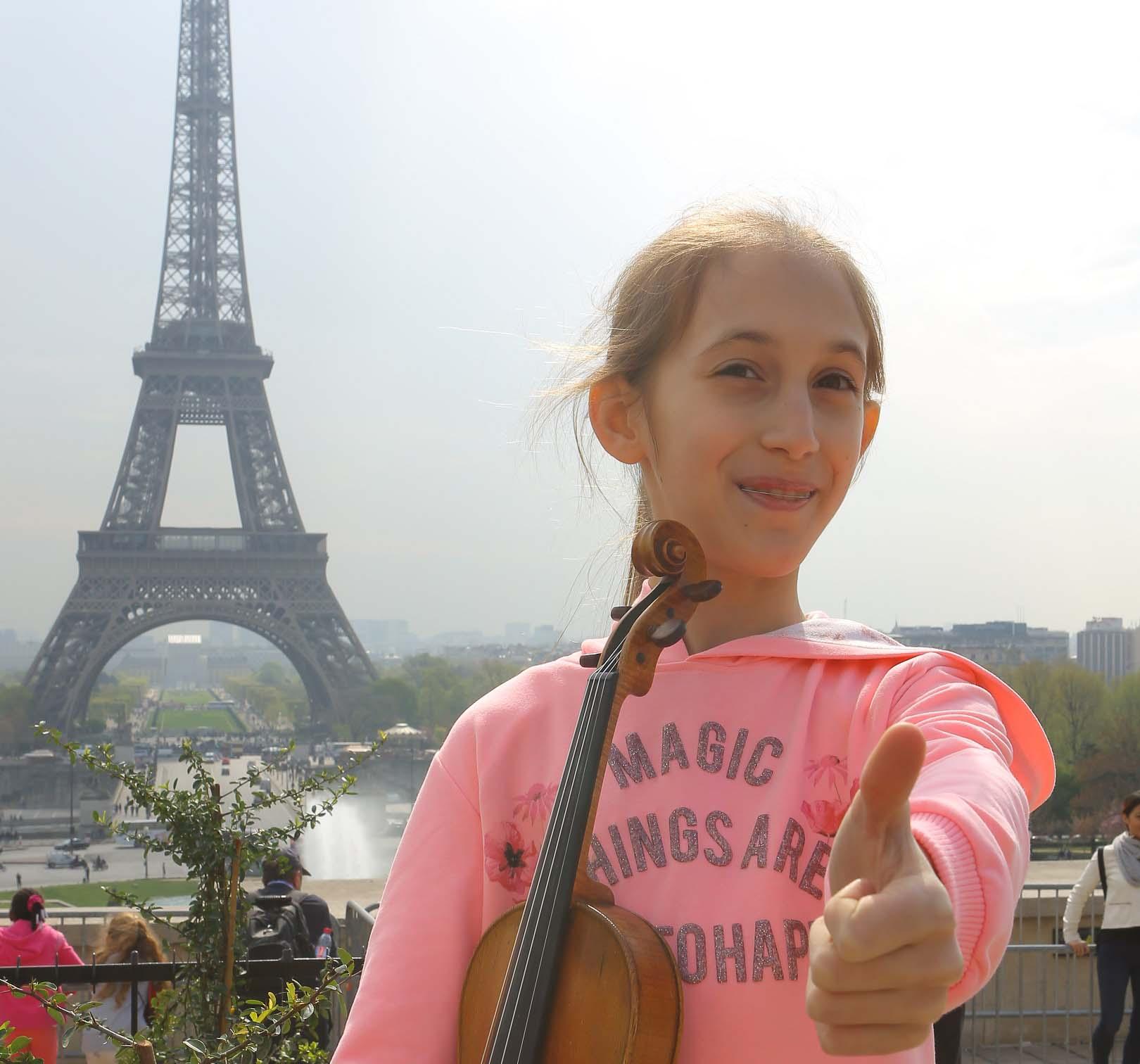 Як 11-річна  львів'янка підкорила Францію грою на скрипці